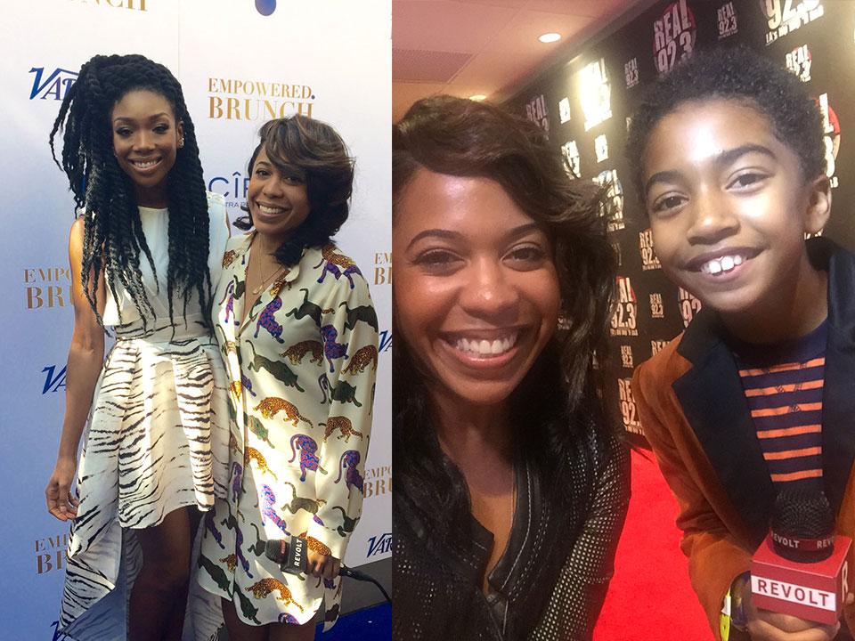 Lindsey Granger, Brandy, Black-ish star Miles Brown